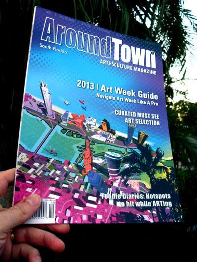 Around Town magazine cover illustration
