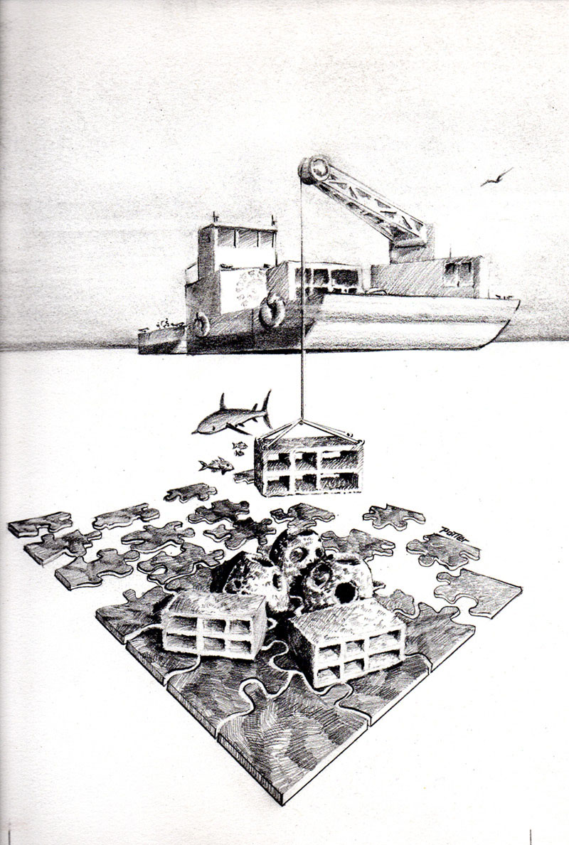 artificial reef drawing