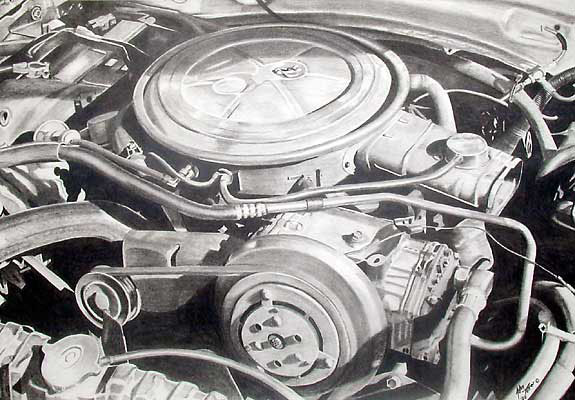 Drawing of an engine