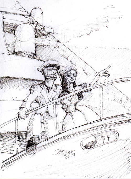 Boat Show Illustration