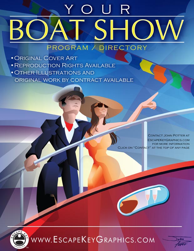 Boat Show Cover Illustration