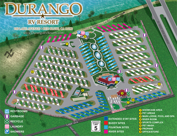 Durango RV Resort Map