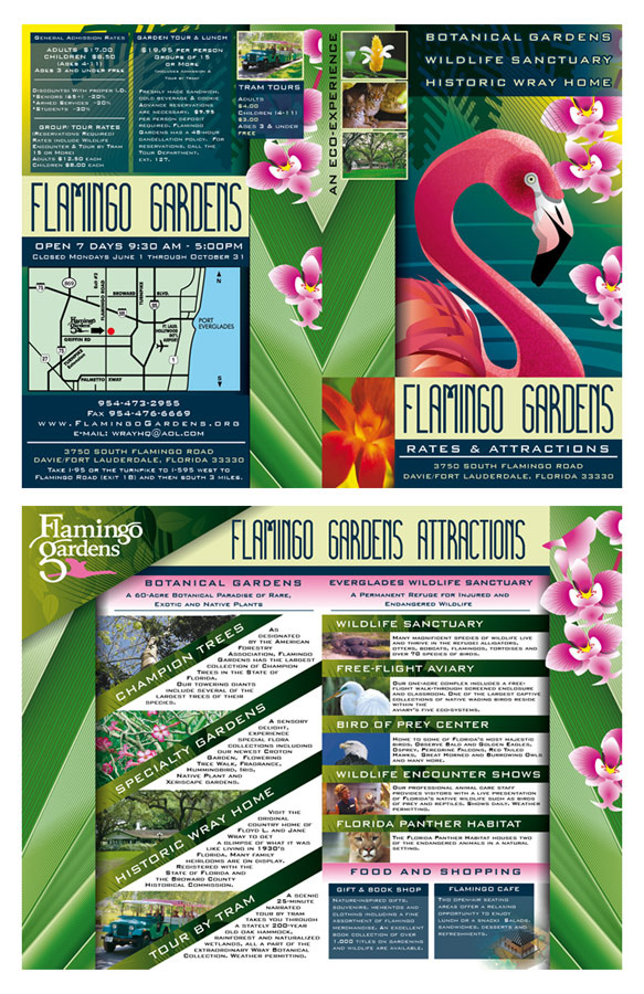 Flamingo Gardens Rates and Attractions Brochure