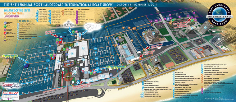 2013 Fort Lauderdale International Boat Show Map