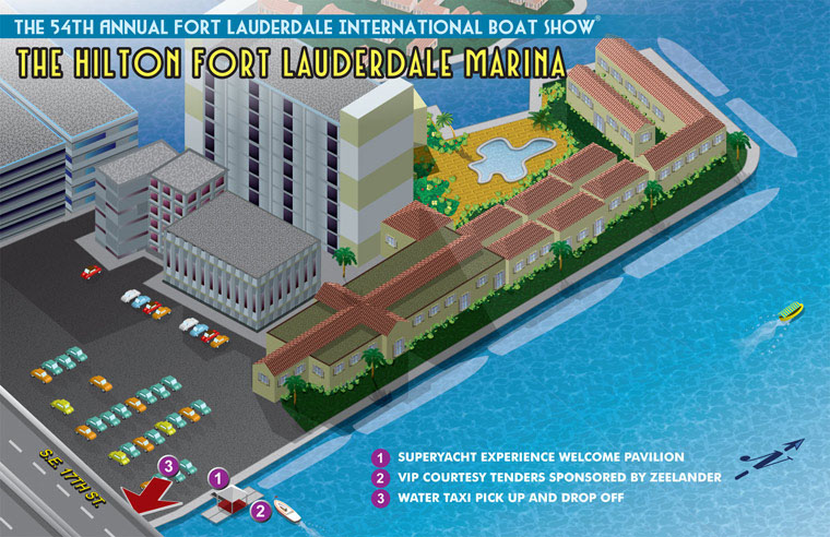 Hilton Marina Map