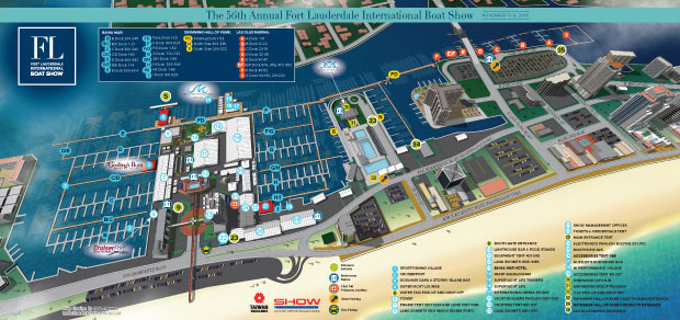 2015 fort Lauderdale International Boat Show Map