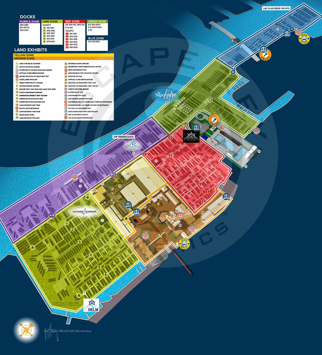 Fort Lauderdale International Boat Show map
