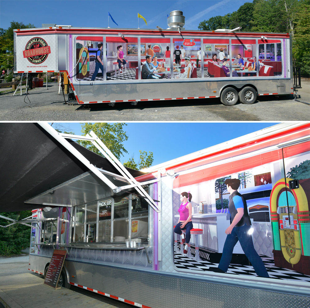 food truck with artwork