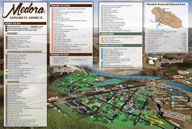 Medora, North Dakota Map
