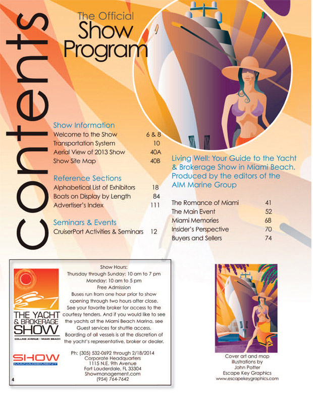 Miami Yacht and Brokerage Show 2014 program contents