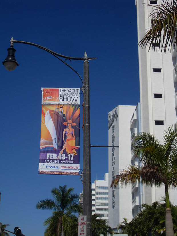 Miami Yacht and Brokerage Show 2014 pole banner