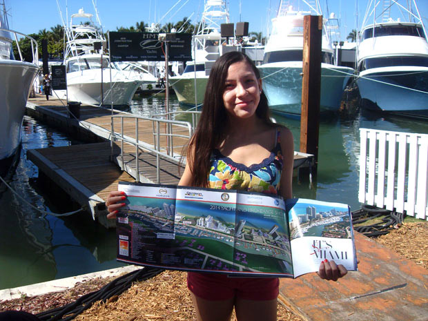 Miami Yacht and Brokerage Show map in Yachts International Magazine