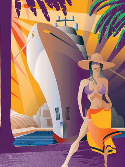 Miami Yacht and Brokerage Show Cover Illustration