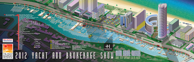 Miami Yacht and Brokerage Show map 2012