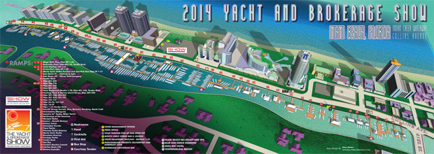 Miami Yacht and Brokerage Show map 2014