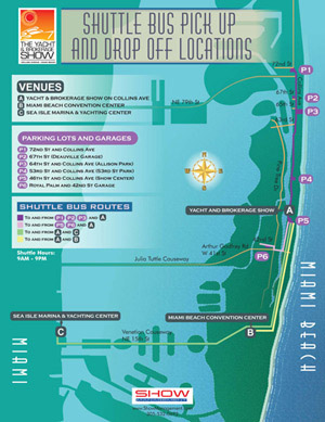 Miami Yacht and Brokerage Show map 2011