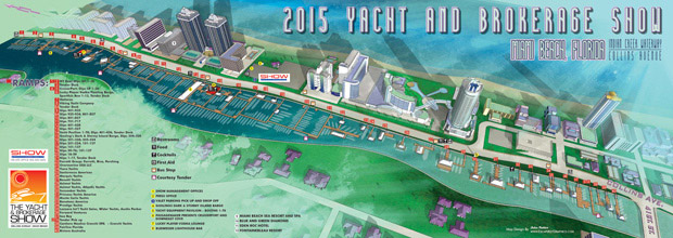 2015 Miami Yacht and Brokerage Show Map