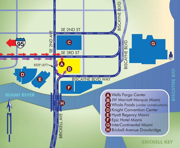 Custom downtown Miami map