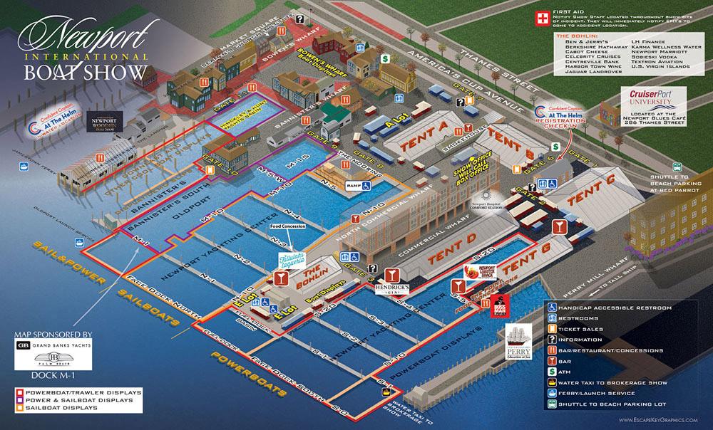 Newport International Boat Show Map