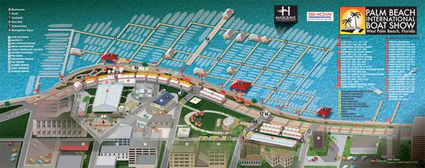 Palm Beach International Boat Show map 2011