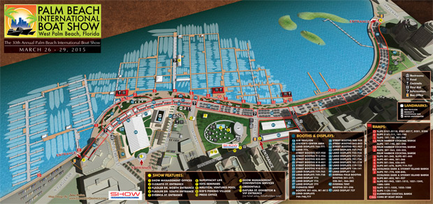 Palm Beach International Boat Show map 2015