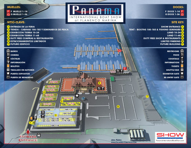 Panama International Boat Show map 2015