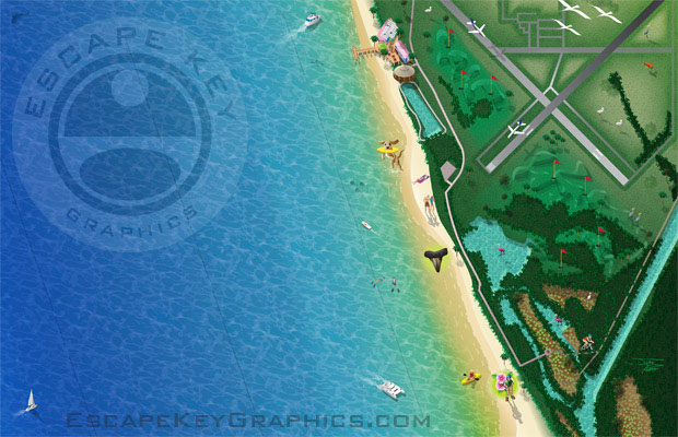 Illustrated Beach Map - Venice beach florida map