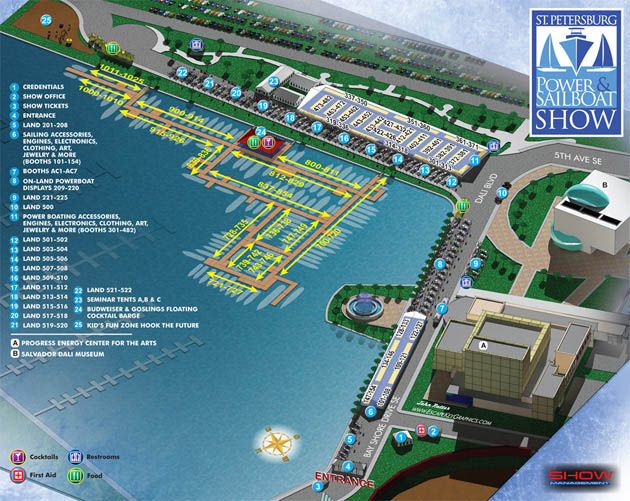 St. Petersburg Power and Sailboat Show Map
