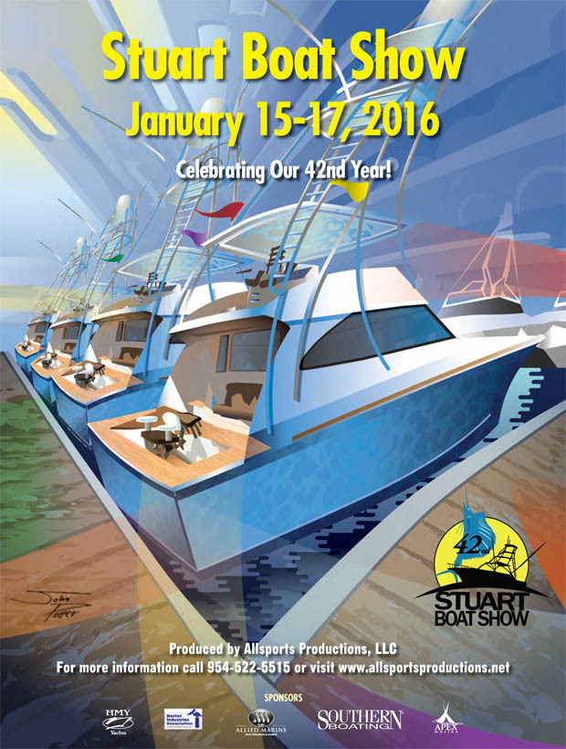 Stuart Boat Show Illustration 2016