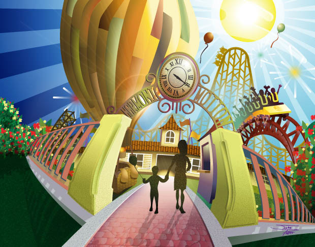 CD cover insert Illustration