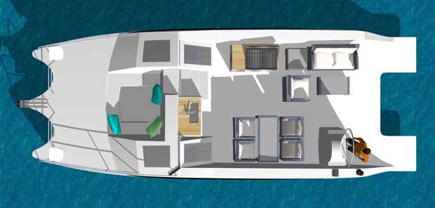 Gemini Catamaran layout