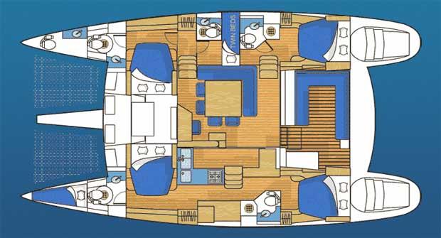 Lagoon 500 layout