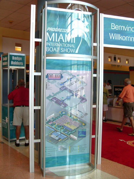 Convention Center map sign