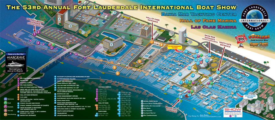 Fort Lauderdale International Boat Show map 2012