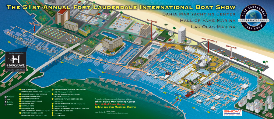 Fort Lauderdale International Boat Show map 2010