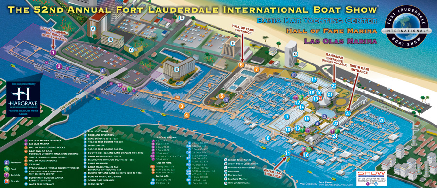 Fort Lauderdale International Boat Show map 2011