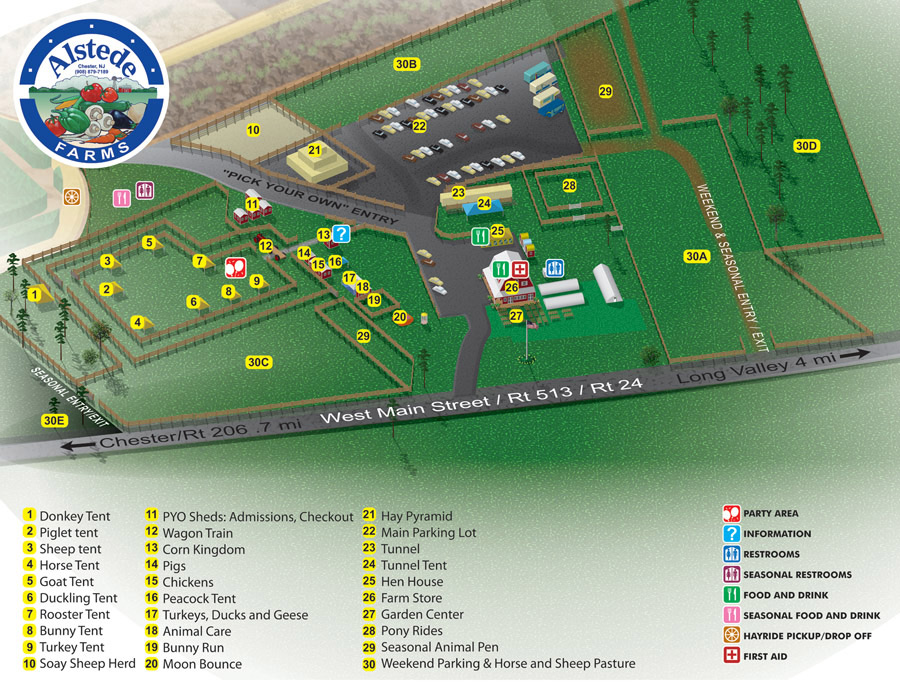 Alstede Farm Front Map
