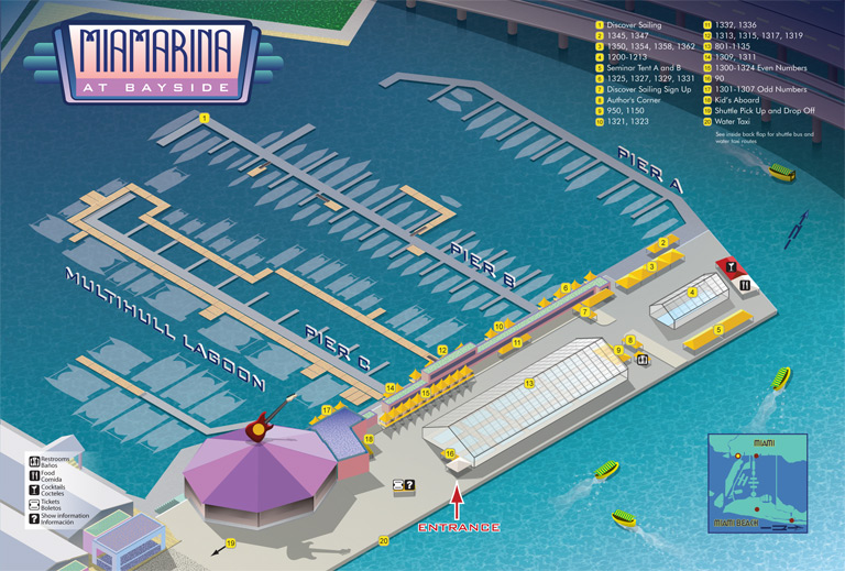 Miami Boat Show Bayside Map