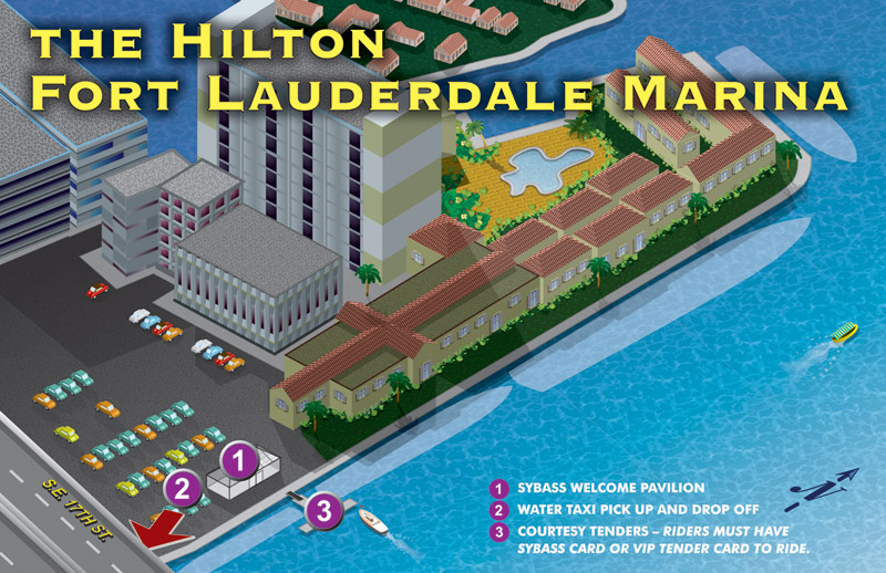 Hilton Fort Lauderdale Marina Map