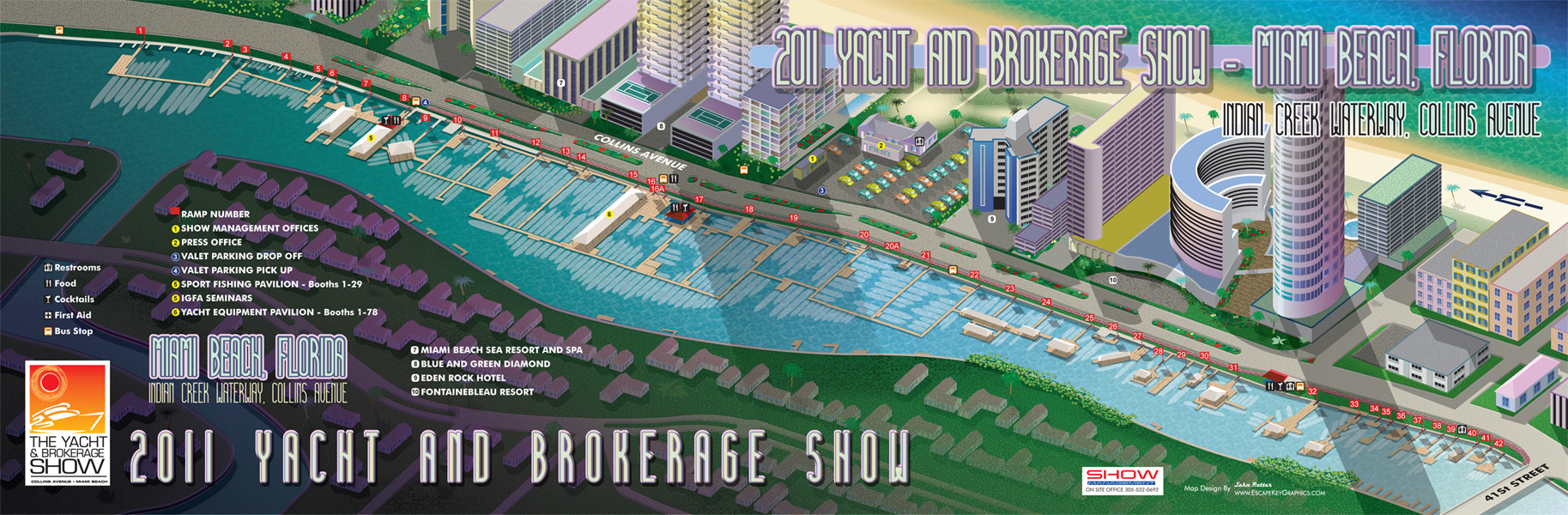 Miami Boat Show Map