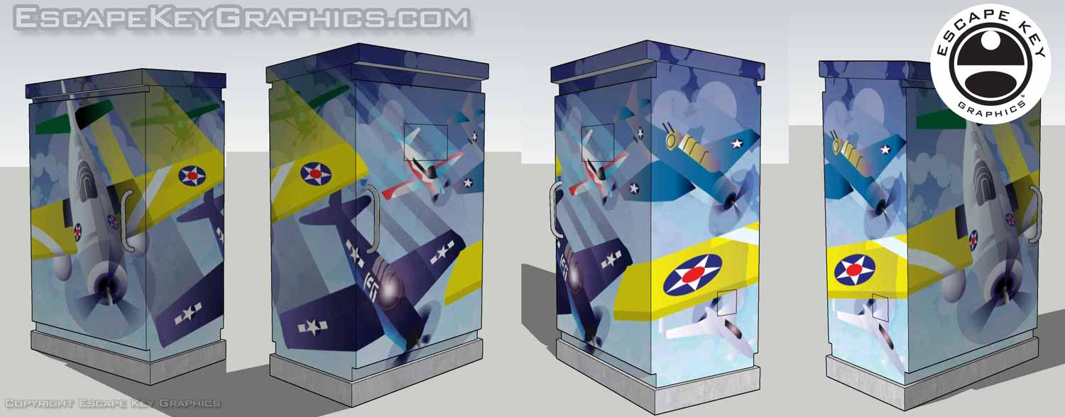 airplanes illustration in use mock up