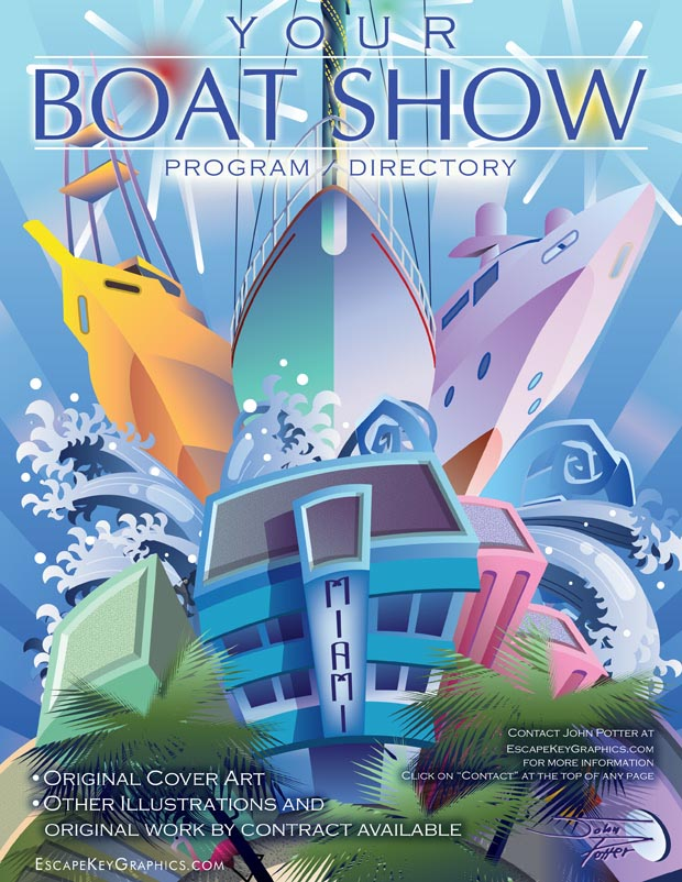 Boat Show Illustrations