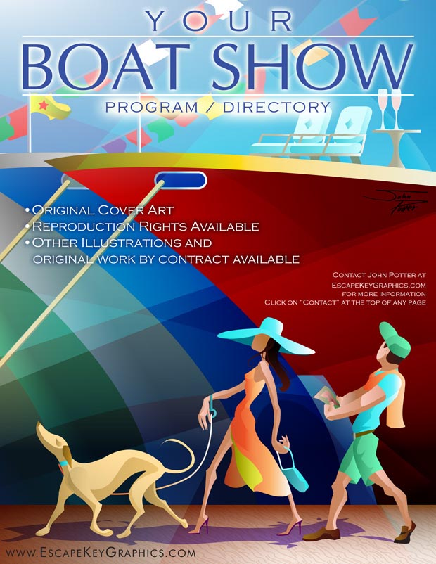 Boat Show Cover Art - Freelance Artist