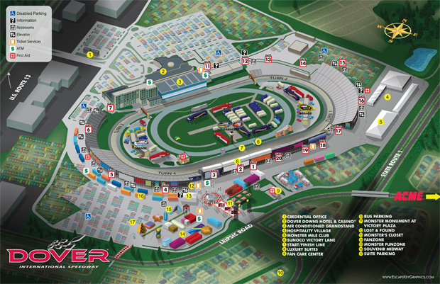Dover International Speedway Map