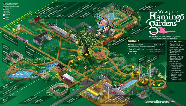 Flamingo Gardens map