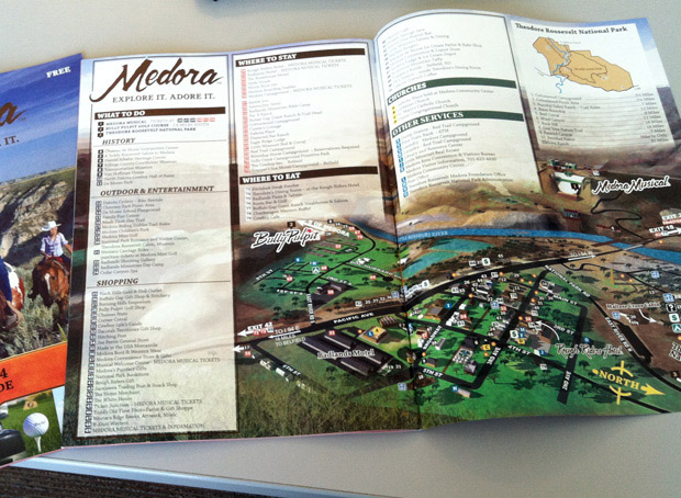 Illustrated map of Medora, North Dakota