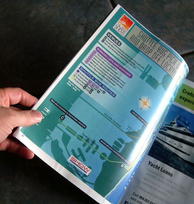 Miami Yacht and Brokerage Show 2014 bus routes map