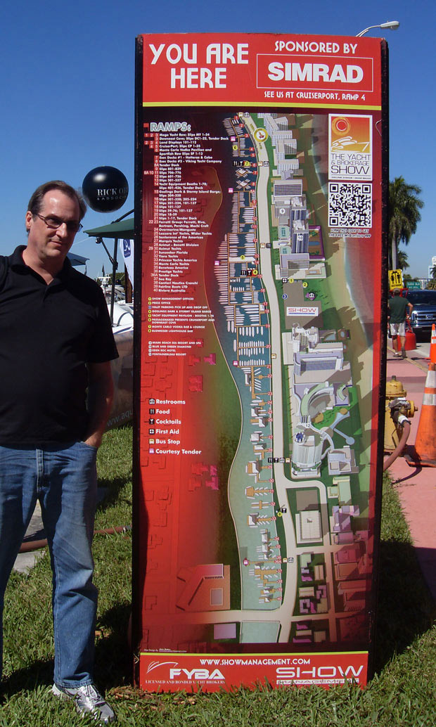 Miami Yacht and Brokerage Show 2014 you are here sign
