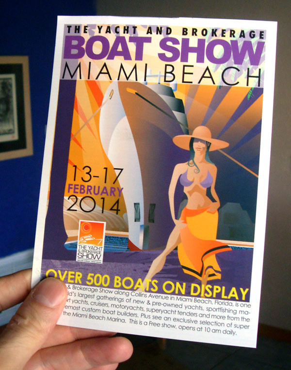 Boat Show illustration mailer card