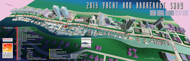 Miami Yacht and Brokerage Show map 2013